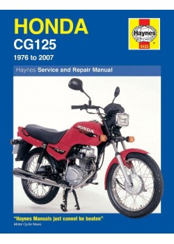HONDA CG125 1976-2005 - OWNERS WORSHOP MANUAL