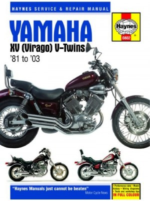 YAMAHA XV (VIRAGO) V-TWINS 1981-86 - OWNERS WORKSHOP MANUAL
