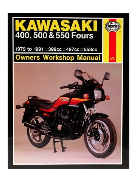 KAWASAKI 400 , 500 & 550 FOURS 1979-91 - OWNERS WORKSHOP MANUAL