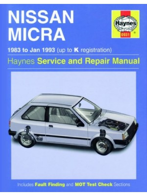NISSAN MICRA 1983-93 - HAYNES SERVICE AND REPAIR MANUAL