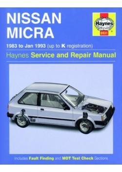 NISSAN MICRA 1983-93 - HAYNES SERVICE AND REPAIR MANUAL