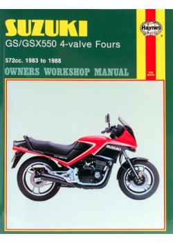 SUZUKI GS/GSX 550 4-VALVE FOURS 1983-88 - OWNERS WORKSHOP MANUAL