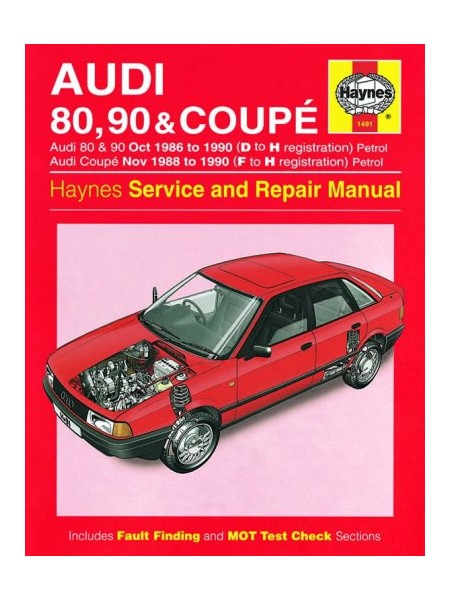 AUDI 80, 90 & COUPE PETROL 1986-90 - OWNERS WORKSHOP MANUAL