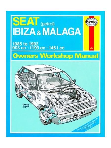 SEAT IBIZA & MALAGA PETROL 1985-92 - OWNERS WORKSHOP MANUAL