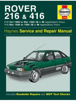 ROVER 216 & 416 PETROL 1989-96 - OWNERS WORKSHOP MANUAL