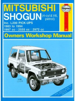 MITSUBISHI SHOGUN & L200 PETROL 83-94 OWNERS WORSHOP MANUAL