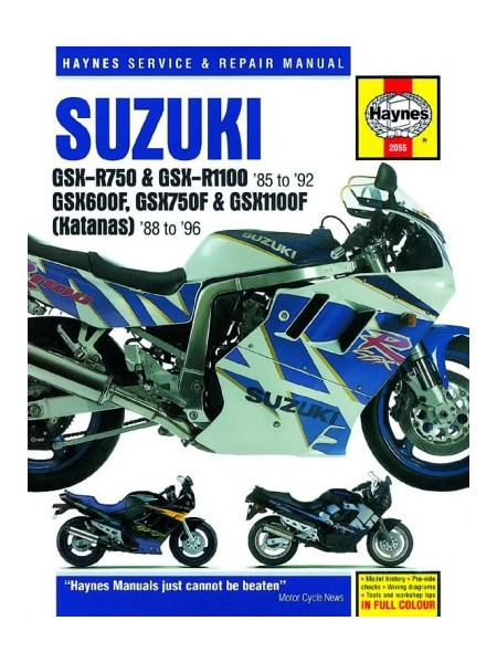 SUZUKI GSX-R : 750,1100,600F,750F,1100F KATANA FOUR 1985-92 - MANUAL