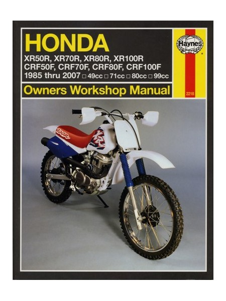 HONDA XR80R / XR100R & CRF80 / 100F 1985-2004 - OWNERS WORKSHOP MANUA