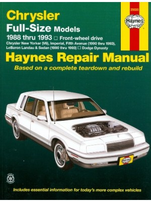 CHRYSLER FULL SIZE FWD 88-93 HAYNES REPAIR MANUAL