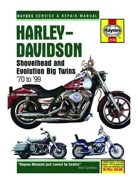 HARLEY DAVIDSON SHOVELHEAD & EVOLUTION 70-99 - HAYNES SERVICE MANUAL