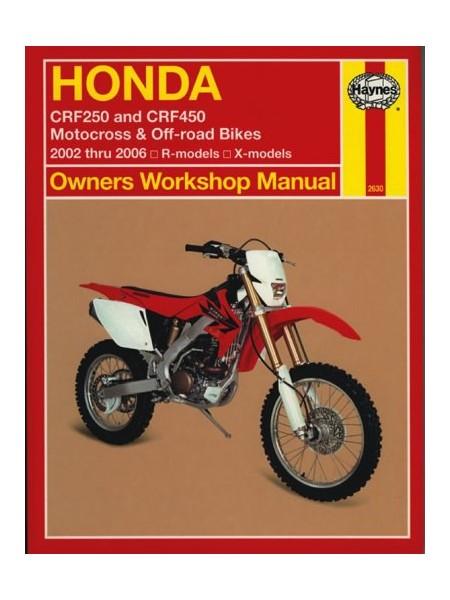HONDA CRF250 & CRF450 2002-06 - OWNERS WORKSHOP MANUAL