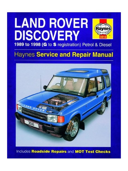 LAND ROVER DISCOVERY PETROL & DIESEL 1989-98 - OWNERS WORKSHOP MANUAL