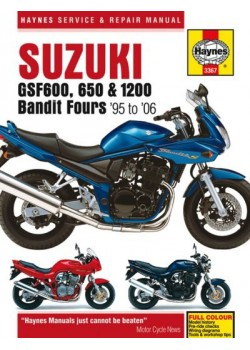 SUZUKI GSF600, 650 & 1200 BANDIT FOURS 95-06 SERVICE & REPAIR MANUAL