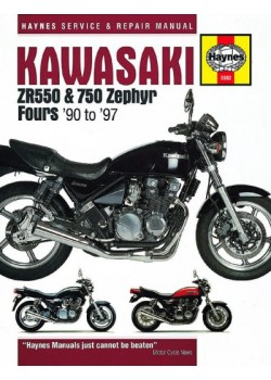 KAWASAKI ZR550/750 ZEPHYR FOURS 1990-97 - SERVICE & REPAIR MANUAL