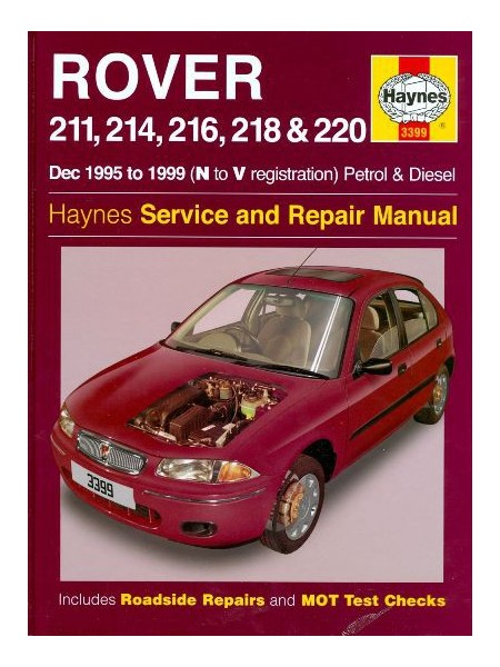 ROVER 211...220 1995-99 PETROL & DIESEL HAYNES SERV AND REPAIR MANUAL