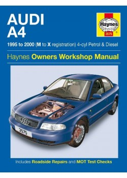 AUDI A4 4 CYL PETROL & DIESEL 1995-00 - OWNERS WORKSHOP MANUAL