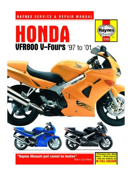 HONDA VFR 800 V-FOURS 1997-01 - OWNERS WORKSHOP MANUAL