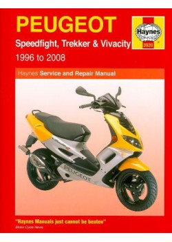 PEUGEOT SPEEDFIGHT, TRECKER & VIVACITY 96-08 SERVICE & REPAIR MANUAL