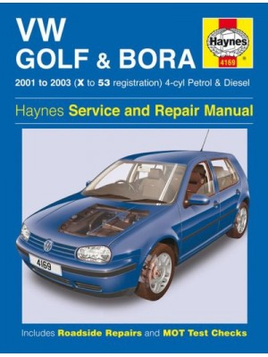 VW GOLF & BORA 4 CYL PETROL & DIESEL 2001-03 - OWNERS WORKSHOP MANUAL