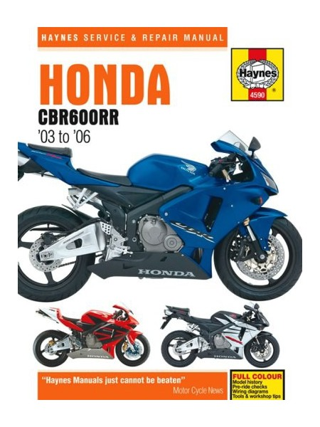 HONDA CBR 600 RR 2003-06 - OWNERS WORKSHOP MANUAL