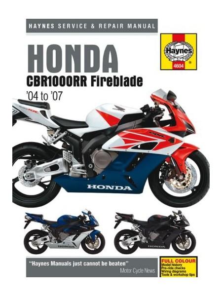 HONDA CBR1000RR FIREBLADE 2004-07- OWNERS WORKSHOP MANUAL