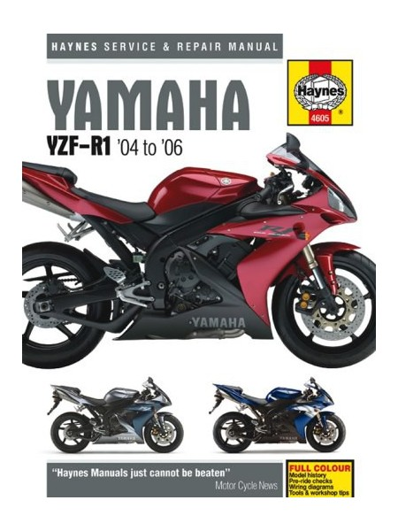 YAMAHA YZF-R1 2004-06 - SERVICE & REPAIR MANUAL