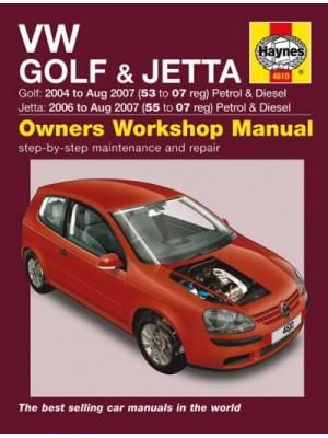 VW GOLF & JETTA PETROL & DIESEL 2004-07 - OWNERS WORKSHOP MANUAL