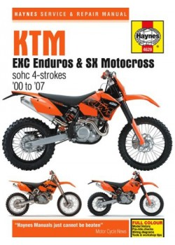 KTM EXC ENDURO & SX MOTOCROSS 2000-07 - SERVICE & REPAIR MANUAL