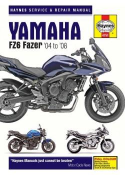 YAMAHA FZ-6 FAZER 2004-08 - SERVICE & REPAIR MANUAL