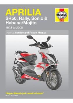 APRILIA SR50, RALLY, SONIC , HABANA & MOJITO SCOOTERS 1993-2008