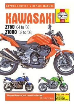 KAWASAKI Z750 & Z1000 2003-08 - SERVICE & REPAIR MANUAL