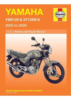 YAMAHA YBR125 & XT125R/X 2005-09 - OWNERS WORKSHOP MANUAL