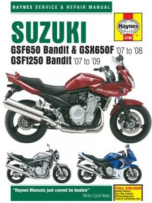 SUZUKI GSF350 BANDIT & GSX650F 07-08, GSF1250 BANDIT 07-09 - MANUAL