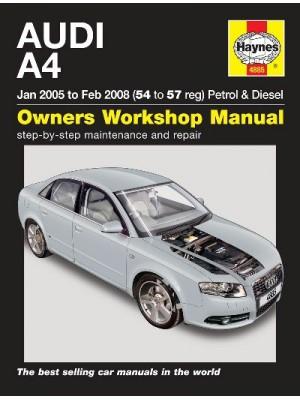AUDI A4 PETROL & DIESEL 01/2005-02/2008 - OWNERS WORKSHOP MANUAL