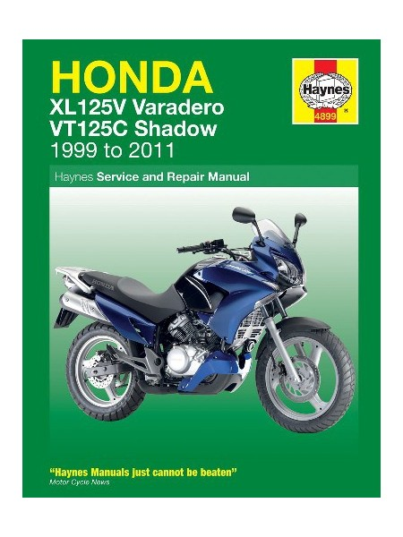 HONDA XL125V & VT125C 1999-11 - OWNERS WORKSHOP MANUAL