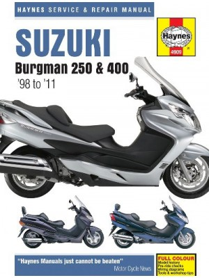 SUZUKI BURGMAN 250 , 400 & 650 1998-10 - SERVICE & REPAIR MANUAL