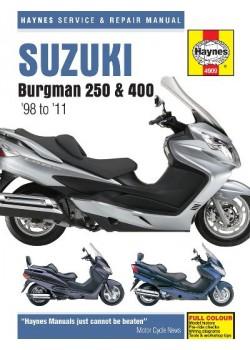 SUZUKI BURGMAN 250 , 400 & 650 1998-10 - SERVICE & REPAIR MANUAL
