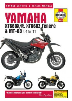 YAMAHA XT660 & MT-03     2004-11 - SERVICE & REPAIR MANUAL