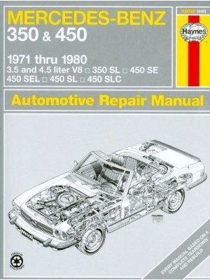 MERCEDES-BENZ 350 & 450 1971-1980 - AUTOMOTIVE REPAIR MANUAL