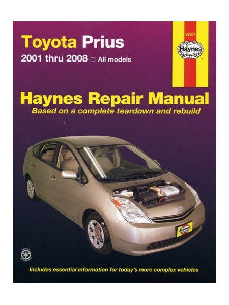 TOYOTA PRIUS 2001-08 - HAYNES REPAIR MANUAL