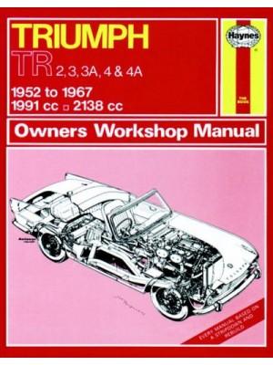 TRIUMPH TR2 3 3A 4 4A 1952-67 - OWNER WORKSHOP MANUAL