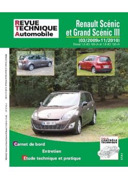 RTAB756 RENAULT SCENIC ET GRAND SCENIC III DIESEL 03/2009-11/2010